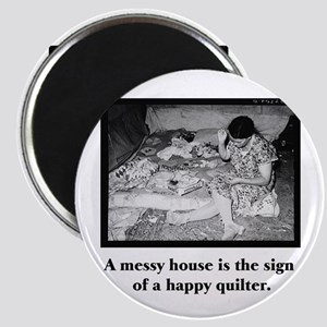 Happy Quilter - Messy House Magnets
