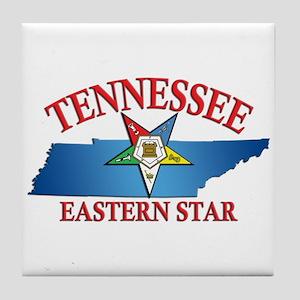 Tennessee Eastern Star Tile Coaster
