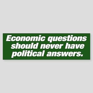 Economic questions Bumpersticker