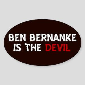 Bernanke is the Devil Oval Sticker