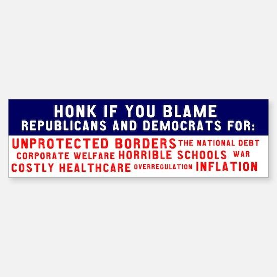 Bipartisan Blame Bumpersticker