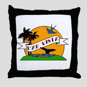 Mar Vista Tattoo Throw Pillow