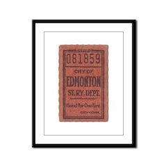 Edmonton Streetcar Railway Ticket Framed Panel Pri