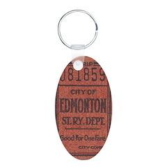 Edmonton Streetcar Railway Ticket Keychains