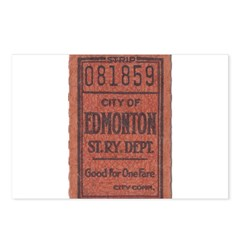 Edmonton Streetcar Railway Ticket Postcards (Packa
