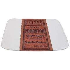 Edmonton Streetcar Railway Ticket Bathmat