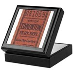 Edmonton Streetcar Railway Ticket Keepsake Box