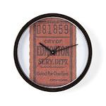 Edmonton Streetcar Railway Ticket Wall Clock