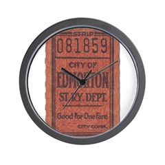 Edmonton Streetcar Railway Ticket Wall Clock