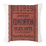 Edmonton Streetcar Railway Ticket Woven Throw Pill
