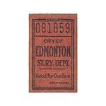 Edmonton Streetcar Railway Ticket Area Rug