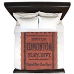 Edmonton Streetcar Railway Ticket King Duvet