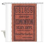 Edmonton Streetcar Railway Ticket Shower Curtain