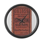 Edmonton Streetcar Railway Ticket Large Wall Clock