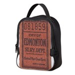 Edmonton Streetcar Railway Ticket Neoprene Lunch B