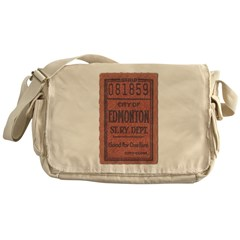 Edmonton Streetcar Railway Ticket Messenger Bag