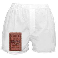 Edmonton Streetcar Railway Ticket Boxer Shorts
