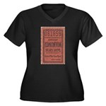 Edmonton Streetcar Railway Ticket Plus Size T-Shir