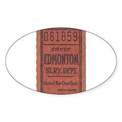 Edmonton Streetcar Railway Ticket Bumper Stickers