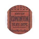 Edmonton Streetcar Railway Ticket 3.5