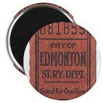 Edmonton Streetcar Railway Ticket Magnets