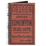 Edmonton Streetcar Railway Ticket Journal
