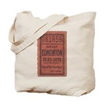 Edmonton Streetcar Railway Ticket Tote Bag