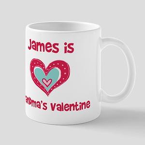 James Is Grandma's Valentine Mug