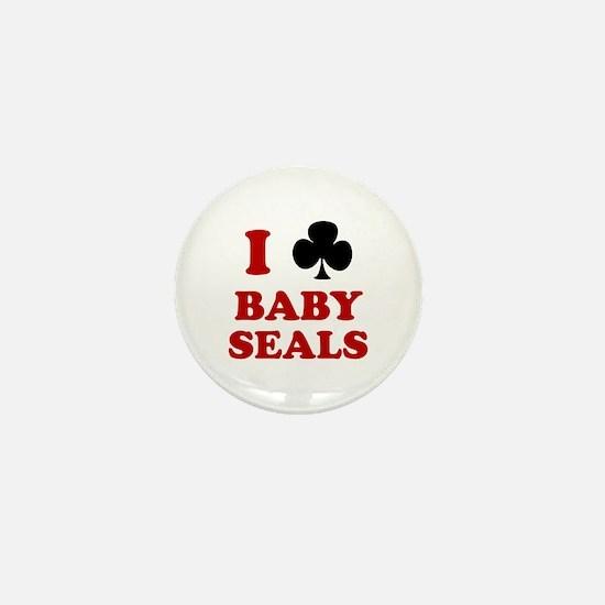 I Club Baby Seals Mini Button