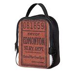 Edmonton Streetcar Railway Ticket Neoprene Lunch B