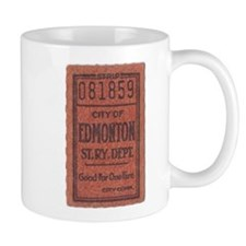 Edmonton Streetcar Railway Ticket Mugs