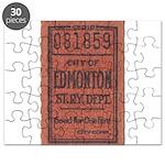 Edmonton Streetcar Railway Ticket Puzzle