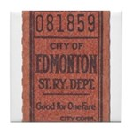 Edmonton Streetcar Railway Ticket Tile Coaster