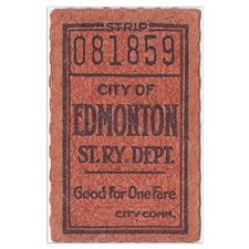 Edmonton Streetcar Railway Ticket Poster