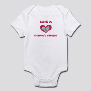 Kaleb Is Grandma's Valentine Infant Bodysuit