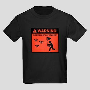 Warning - Entomology in Progr Kids Dark T-Shirt