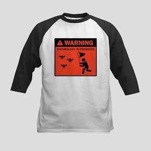 Warning - Entomology in Progr Kids Baseball Jersey
