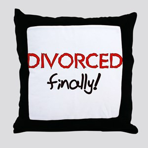 Divorced Finally Throw Pillow