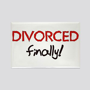 Divorced Finally Rectangle Magnet