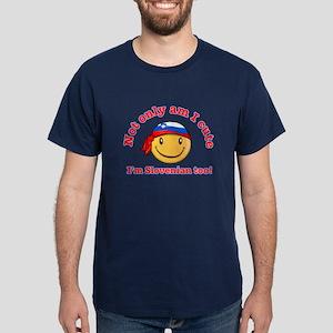 Not only am I cute I'm Slovenian too! Dark T-Shirt