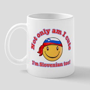 Not only am I cute I'm Slovenian too! Mug