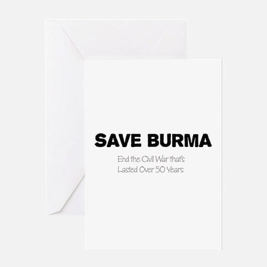 Save Burma Greeting Card