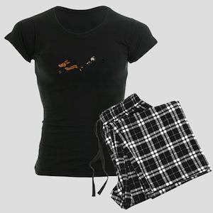Funny Dog Walking Cartoon Pajamas
