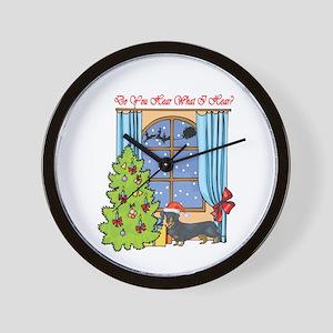 Dachshund Christmas Wall Clock