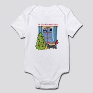 Dachshund Christmas Infant Bodysuit