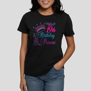 19th Birthday Princess Women's Dark T-Shirt