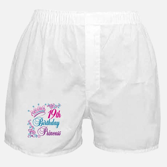 19th Birthday Princess Boxer Shorts