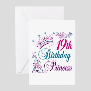 19th Birthday Princess Greeting Card