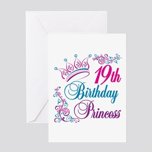 19th Birthday Princess Greeting Card