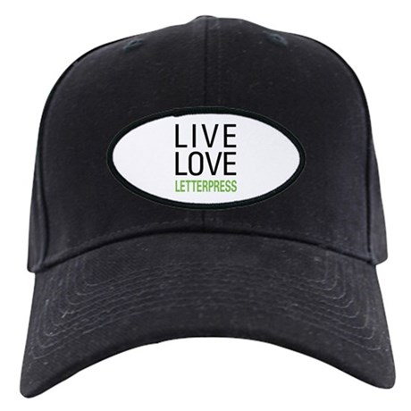 Live Love Letterpress Black Cap